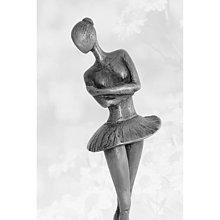 Sochy - Baletka, cínová socha, moderná, originálna - 13769259_