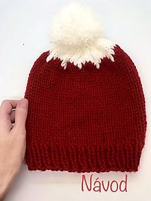 Návody a literatúra - NÁVOD č. 12. - vianočná čiapka s brmbolcom - 13766638_