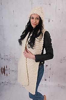 Čiapky - set-čiapka a šál,100 % peruánska ovčia vlna - 13766660_