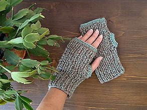 Rukavice - Bezprstové rukavice 100% vlna - 13767571_