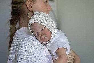 """Detské čiapky - Čepček pre bábätko, """"Vrkoč"""", OEKO-TEX®, rôzne farby - 13766781_"""