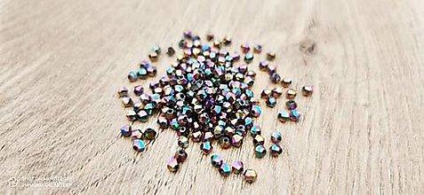 Korálky - Korálka obrusovaná 3 mm  (Pestrofarebná) - 13768072_