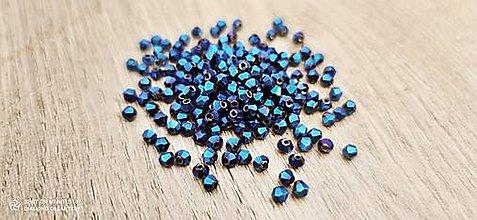 Korálky - Korálka obrusovaná 3 mm  (Modrá) - 13768075_