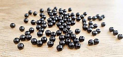 Korálky - Perličky 8 mm (Čierna) - 13768363_