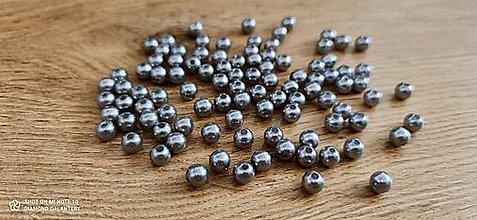 Korálky - Perličky 8 mm (Šedá) - 13768365_