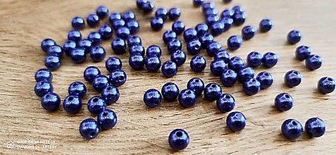 Korálky - Perličky 8 mm (Modrá) - 13769830_