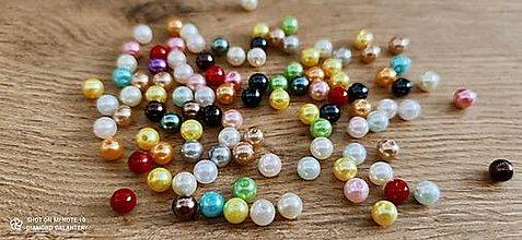 Korálky - Perličky 8 mm - Farebný mix 100 kusov - 13769847_