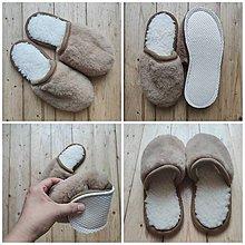 Obuv - VLNIENKA barefoot papuče na doma 100% ovčia vlna MERINO TOP SUPER WASH Camel  - 13767262_