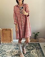 Šaty - Dámske ľanové šaty AUDREY - 13767135_