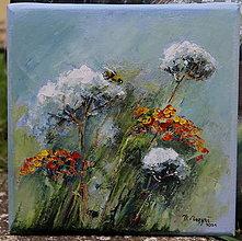 Obrazy - Zo včelej záhrady 2 - 13767782_