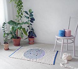 Úžitkový textil - Ručne tkaný koberec | terrazzo planet - 13768645_