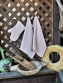 Úžitkový textil - Darčeková sada kuchynských doplnkov Pink - 13766955_