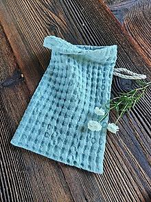 Úžitkový textil - Ľanová žinka Blue - 13768203_