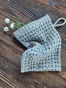 Úžitkový textil - Ľanová žinka Grey - 13768209_