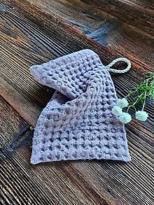 Úžitkový textil - Ľanová žinka Lavender - 13768234_