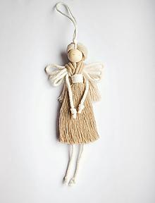 "Dekorácie - makramé Anjel ""jeseň"" - 13770388_"