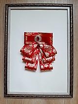 Brošne - Luxusná červená brošňa  - 13770867_
