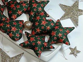 Dekorácie - Vianočné ozdoby ,hviezdy, srdiečka - 13773353_