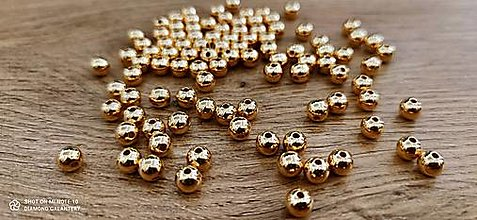 Korálky - Korálky 8 mm (Zlatá) - 13772180_