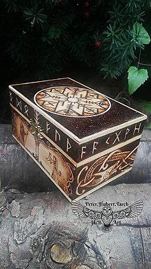 Krabičky - Dubové runy Futhark - 13771118_