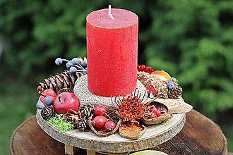 Dekorácie - Jesenný svietnik - 13771197_