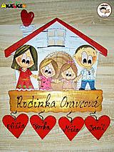Tabuľky - Menovka - rodinka a domček - 13772304_