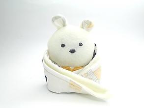 Hračky - RECY-UPCY mojkadlá pre najmenších (Medvedík krémový) - 13772123_