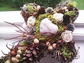 Dekorácie - Prírodná dekorácia na dušičky ... krížik ... - 13770341_
