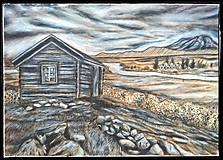 """Kresby - """"Na vŕšku"""", kresba ceruzkou a suchým pastelom, krajinka - 13770915_"""
