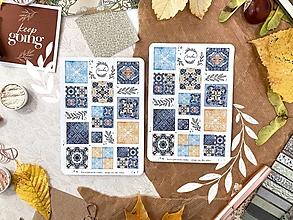 """Papier - Samolepky """" Steps on the tiles"""" - 13772641_"""