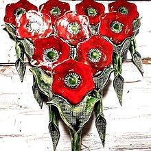 Dekorácie - Makové zápichy do kvetináča - 13770617_