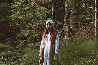 Ozdoby do vlasov - modro-biela čelenka - 13771638_