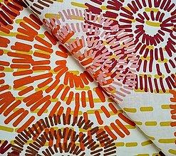 Textil - 100% ľan mandaly (ako materiál alebo šitie na želanie) - 13772958_