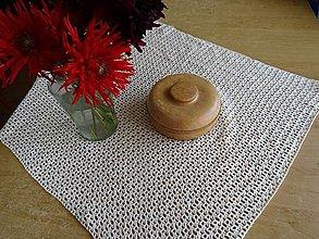 Úžitkový textil - Háčkovaná dečka štvorcová - 13773502_