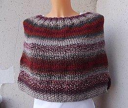 Iné oblečenie - pletená pelerína - 13776387_