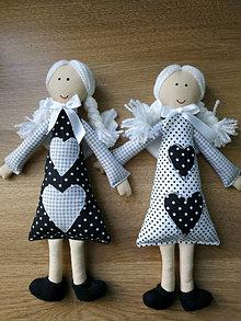 Hračky - Anjeliky maznáčiky z šedo- čiernej kolekcie - 13776148_