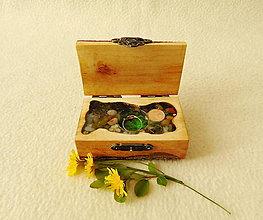 Krabičky - Krabička na prsteň Čarovné polienko - 13775397_