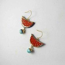 Náušnice - Tana šperky - keramika/zlato - 13774671_