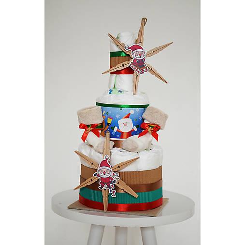 Vianočná plienková torta 1