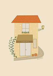 """Grafika - Ilustrácia """" Coffeeshop House"""" - 13776659_"""