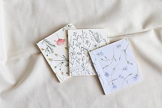 Papiernictvo - Malý zošítok | Kvietky | čisté strany - 13775992_