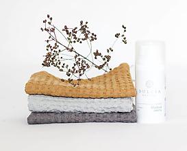 Úžitkový textil - Ľanová žinka na telo a tvár 3ks - 13775588_