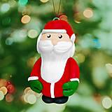 Dekorácie - Santa stojaci vianočná ozdoba - 13777187_