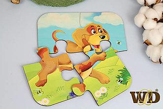 Detské doplnky - Drevené puzzle - 13779493_