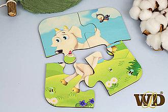 Detské doplnky - Drevené puzzle - 13779499_