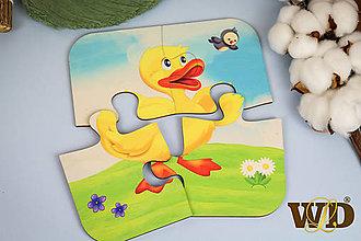 Detské doplnky - Drevené puzzle - 13779504_