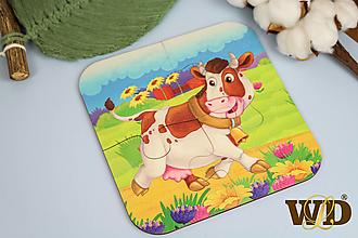 Detské doplnky - Drevené puzzle - 13779511_