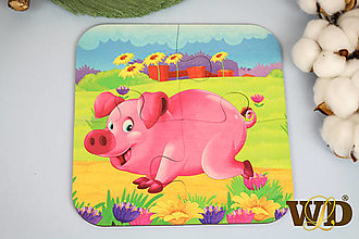 Detské doplnky - Drevené puzzle - 13779514_