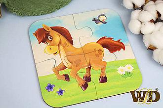 Detské doplnky - Drevené puzzle - 13779519_