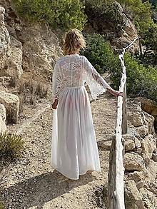 Šaty - Dlhé boho šaty na plavky - 13777919_